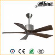 5 blade bedroom natural wood ceiling fan no light,
