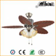 46 inch natural wood rural ceiling fan 3 lights