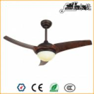 48 inch modern wood ceiling fan led light