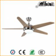 5 blades brushed nickel living room ceiling fan light and remote