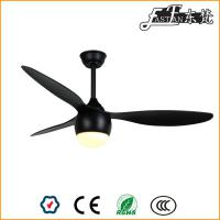 52 inch 3 blades black ceiling fans with led lights
